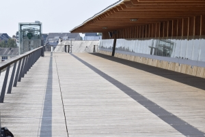 Inauguration passerelle Laval
